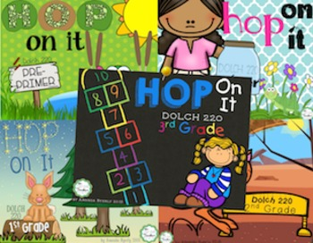 DOLCH sight words HOP ON IT games BUNDLE