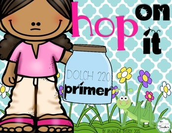 DOLCH sight words (PRIMER) HOP ON IT game