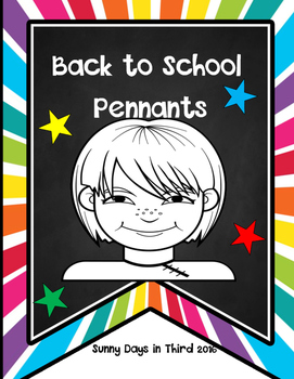 BACK TO SCHOOL {ALL ABOUT ME}  COLORING PENNANTS