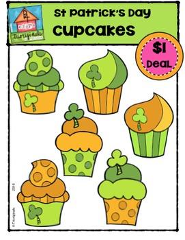 St. Patrick's Day Cupcakes {P4 Clips Trioriginals Digital