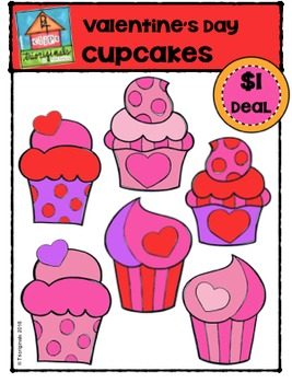 Valentine's Day Cupcakes {P4 Clips Trioriginals Digital Clip Art}