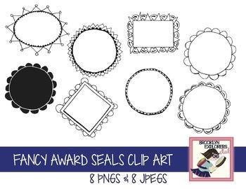 Fancy Award Certificate Seals Clip Art