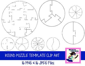Round Puzzle Clip Art Set (32 Files)