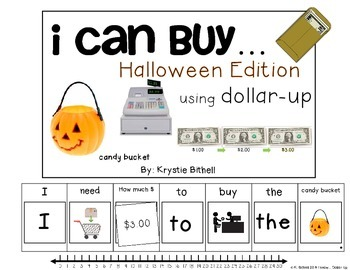 DOLLAR UP: I Can Buy... HALLOWEEN Money Adapted Book Autism