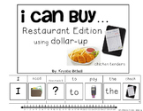 DOLLAR UP: I Can Buy... Restaurant Money Adapted Book Autism