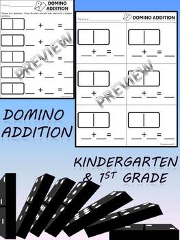 DOMINO ADDITION NUMBER SENTENCES KINDERGARTEN 1st 2 Formats