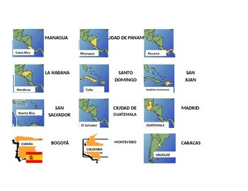 DOMINO OF THE SPANISH-SPEAKING COUNTRIES. DOMINO DE LOS PA