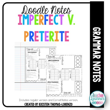 DOODLE NOTES: Imperfect v. Preterite