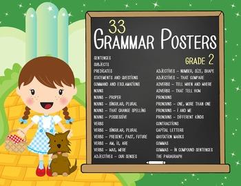 DOROTHY & OZ - 2nd grade GRAMMAR posters / Scott Foresman Reading