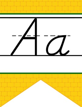 DOROTHY & OZ - Alphabet Banner, handwriting, A to Z, D'Nea