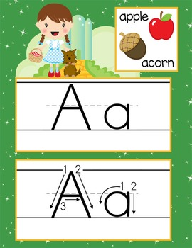 DOROTHY & OZ - Alphabet Cards, Handwriting, Flash Cards, A
