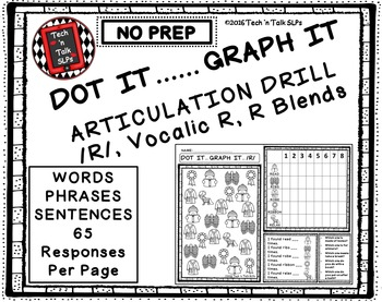 DOT IT ... GRAPH  - IT ARTICULATION DRILL FOR /R/, Vocalic