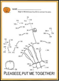 "SKELETON SCIENCE or HALLOWEEN MATH ""COUNT BY 5s"" ACTIVITY"