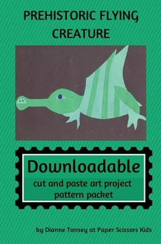 DOWNLOADABLE PREHISTORIC FLYING CREATURE CUT AND PASTE ART