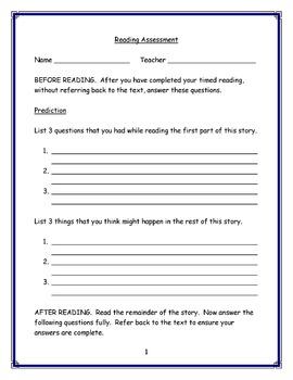 DRA Practice Worksheet