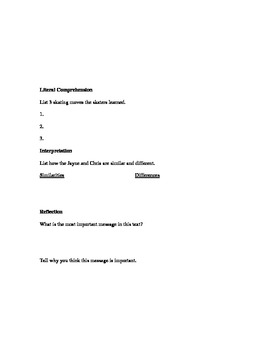 DRA2 Questioning Sheet for Champions on Ice