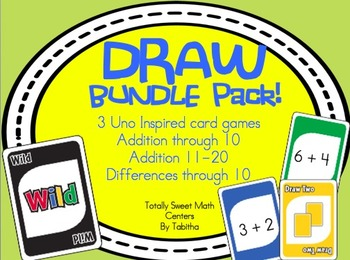 DRAW (An Uno Inspired Card Game) Adding  & Subtracting Bun