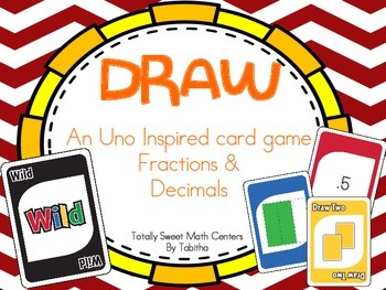 DRAW (An Uno Inspired Card Game) Fractions and Decimals