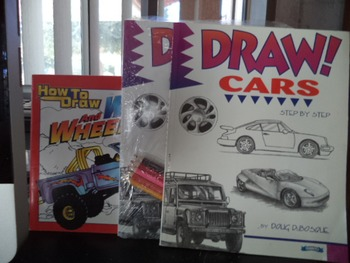 DRAW CARS  HOW TO DRAW WHEELS AND WINGS  (SET OF 3)
