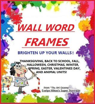 """""""WALL-WORD POCKET FRAMES"""" 50 FOR SEASONS AND HOLIDAYS!  BR"""