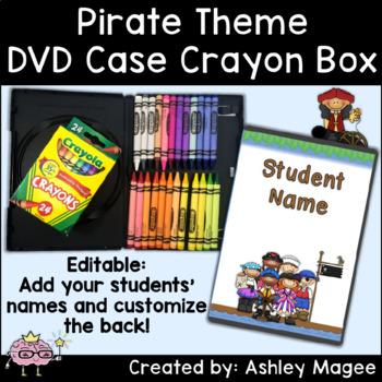 DVD Case Crayon Box Pirate Theme