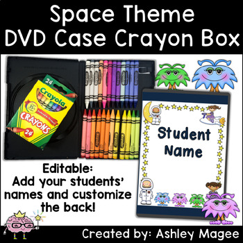 DVD Case Crayon Box Space Theme