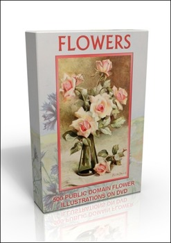 DVD - Flowers. 500 out-of-copyright illustrations on DVD t