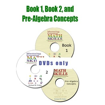 *DVDs Only* Book 1, Book 2, and Pre-Algebra Concepts