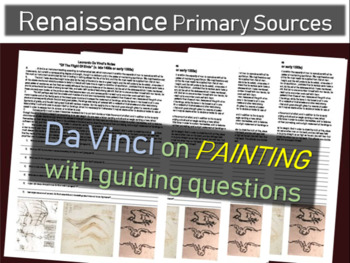 Da Vinci Primary Source (from his notebook) on PAINTING (w