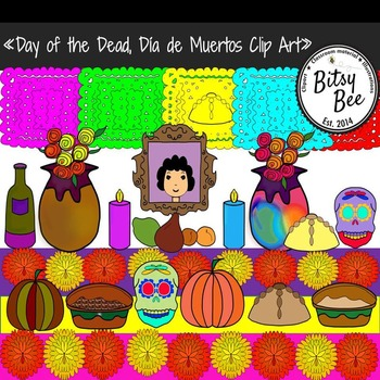 Día de Muertos. Day of the Dead Clip Art.