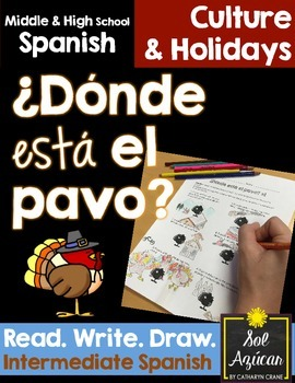 Spanish Thanksgiving ¿Donde está el pavo? - Read and Draw