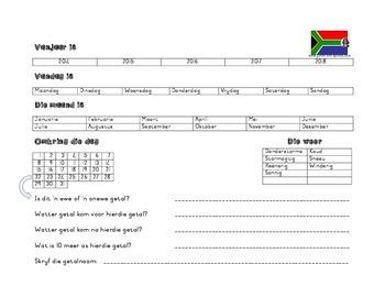 Daaglikse Kalender-oefeninge