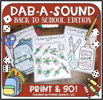 Dab-A-Sound Back 2 School Edition Edition: Common Articula