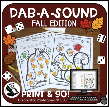 Dab-A-Sound Fall Edition: Common Articulation Targets