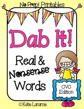 Dab It! Real & Nonsense Words CVC Edition