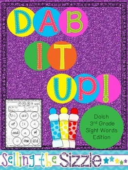 Dab It Up! With the 3rd grade Dolch Word List!