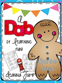 Dab of Learning Fun December {No Prep Printables for Skill