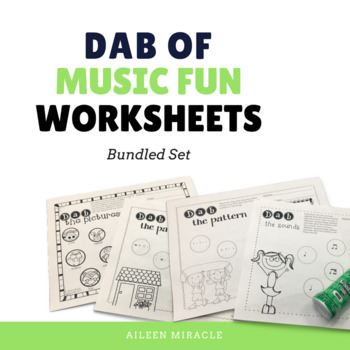 Music Dabbing Worksheets {Bundled Set}