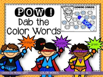 Dab the Color Words
