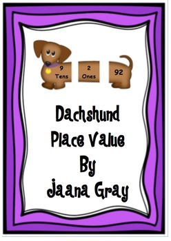 Dachshund Place Value to 99