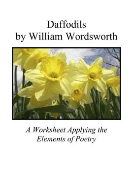 Applying the Elements of Poetry to Daffodils by William Wo