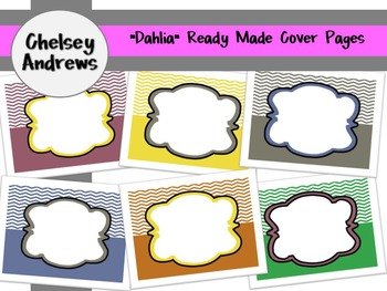"""""""Dahlia"""" Ready Made Cover Pages {Personal and Commercial Use}"""