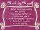 Daily 3 MATH Behaviors Anchor Charts/Posters (Pink Chalkbo