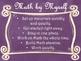 Daily 3 MATH Behaviors Anchor Charts/Posters (Purple Chalk