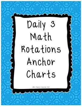 Daily 3 Math Rotations Anchor Charts