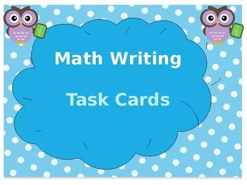 Daily 3- Math Writing Task Cards