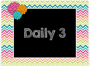 Daily 3 PowerPoint - Math with the Teacher instead of Math