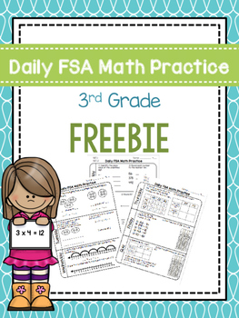 Daily 3rd Grade Math FSA Practice Morning Work SAMPLE