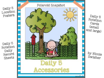 The Daily 5! Class/Rotation Signs (big and small), Record