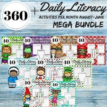 Daily 5 Literacy Block Activities Year Round Bundle 2nd Grade